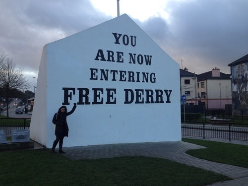 At the Free Derry Corner in Derry, Northern Ireland, 2014.