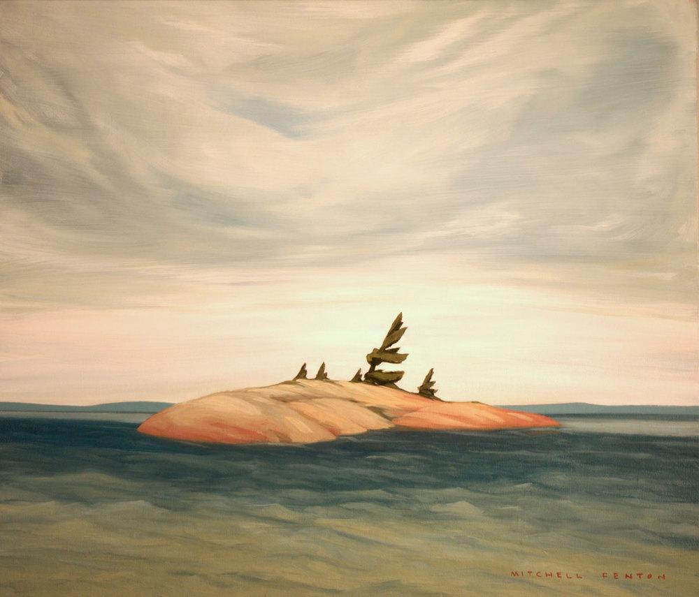 Island Lake Superior - 24x30 inch