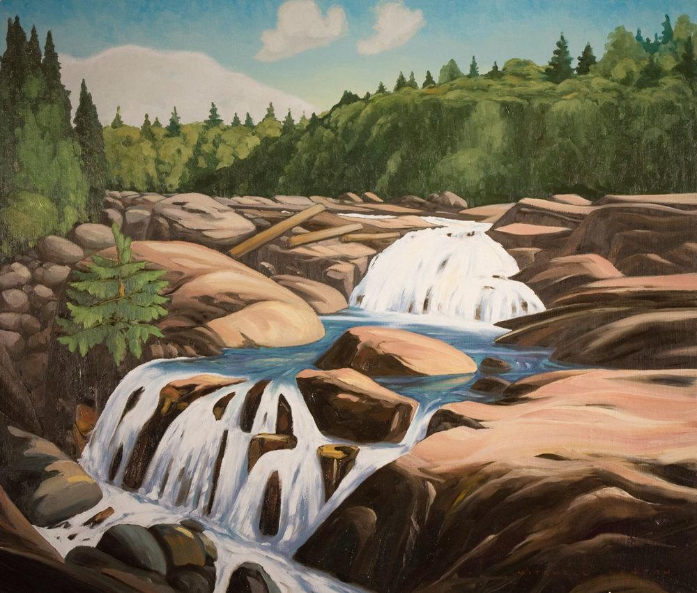 Waterfall Lake Superior - 24x30 inch