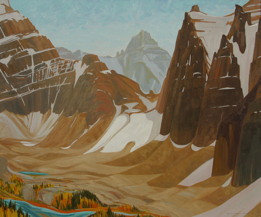 Opabin Plateau from All Souls - 60x72 inch