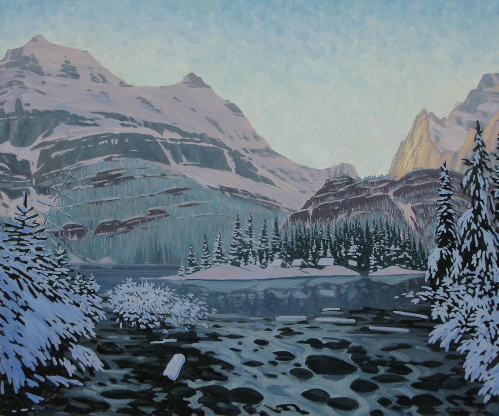 New Snow Lake O'Hara - 60x72 inch