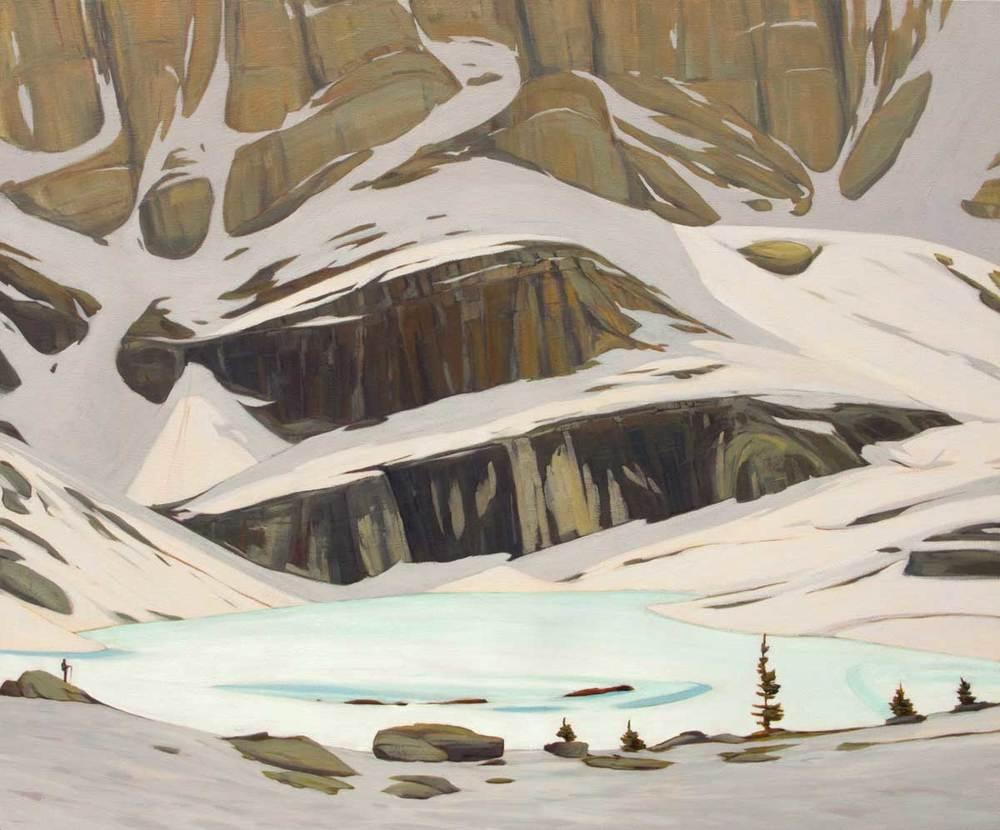 Frozen Lake Oesa - 40x48