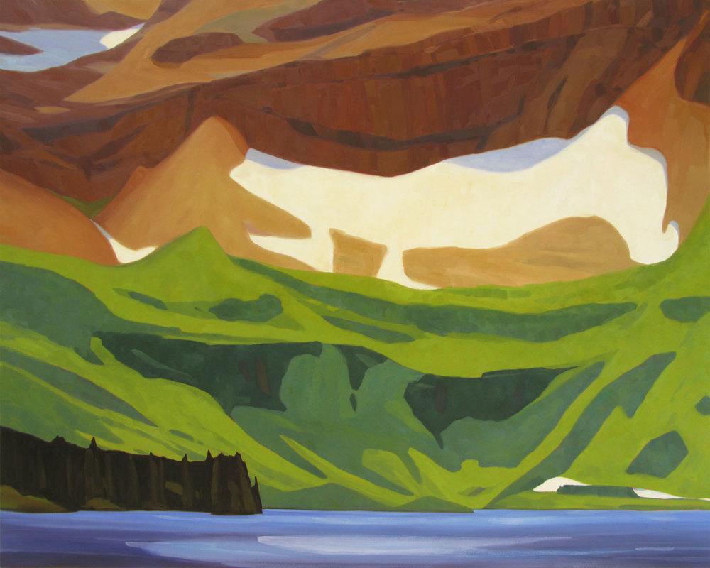 Cameron Lake - 48x60 inch