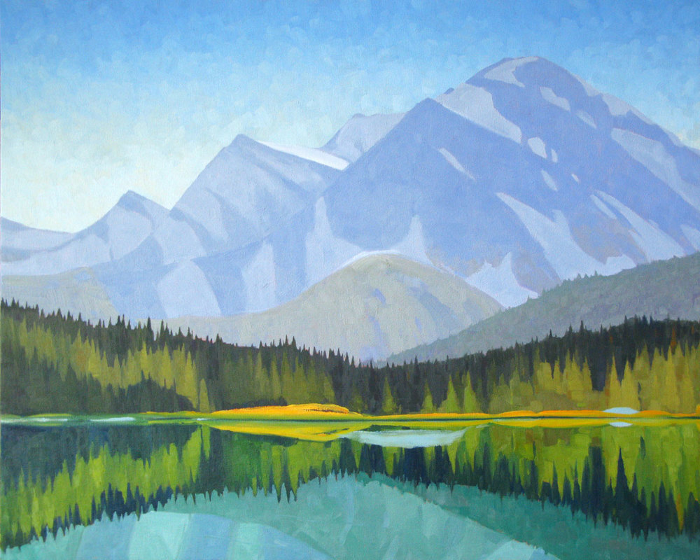 Waterfowl Lake - 32x40 inch