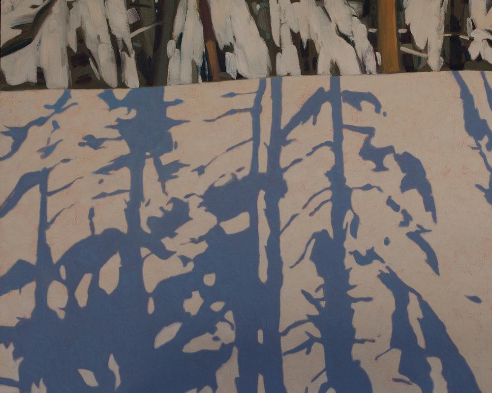 Snow Shadows - 32x40 inch
