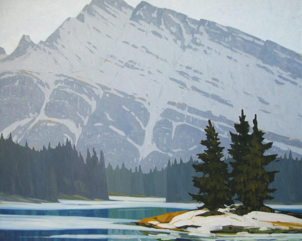 Two Jack Lake - 40x50 inch