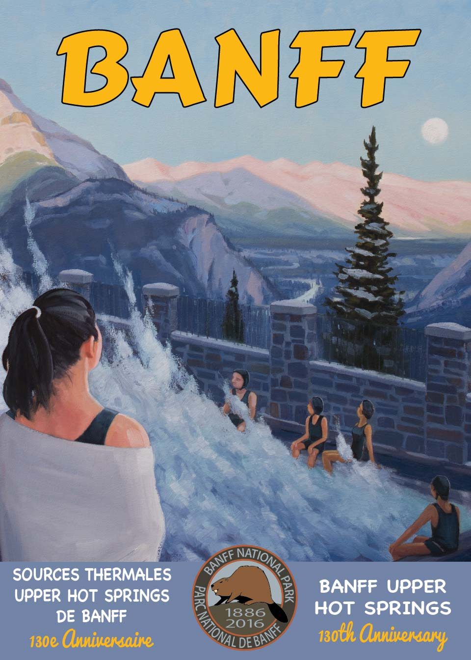 Banff Upper Hot Springs Postcard