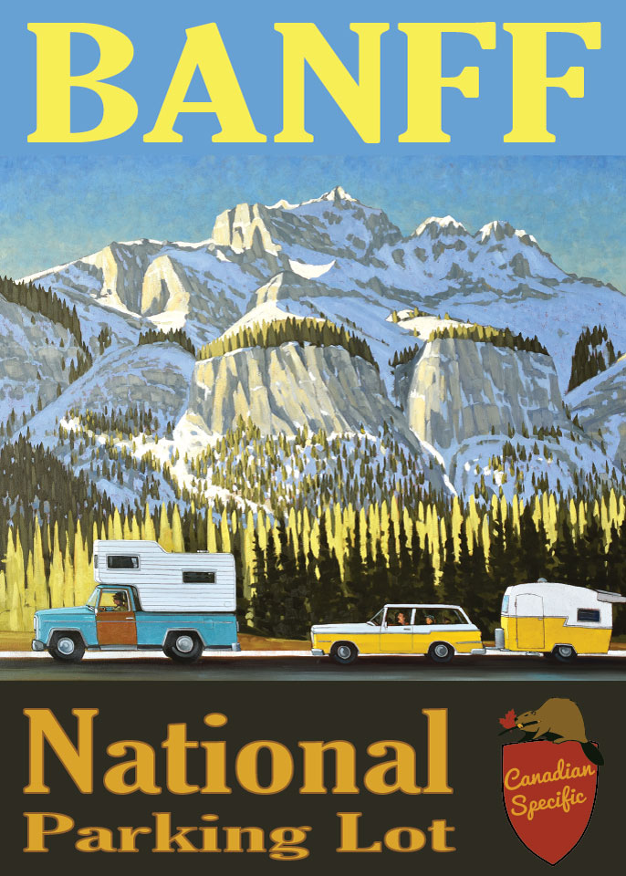 #003 Banff National Parking Lot
