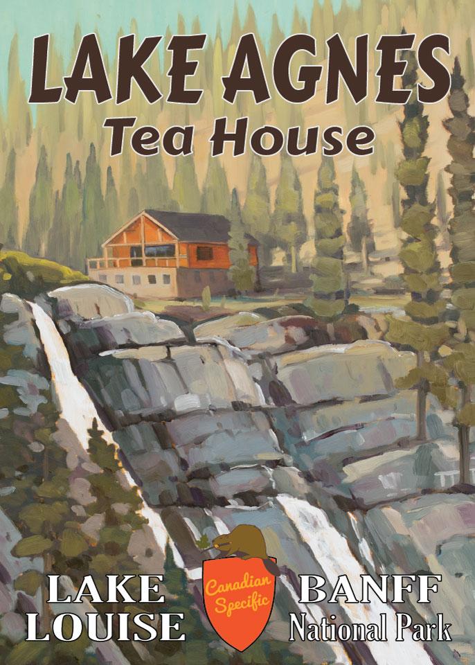 Lake Agnes Tea House Waterfall