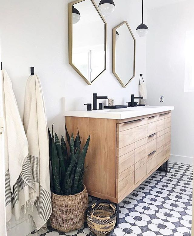 We're loving this bathroom designed by @anaberdesign
