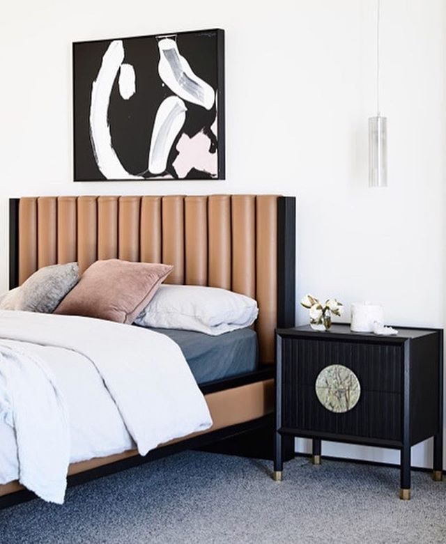 We love a master bedroom with a good focal art piece. And that grey carpet brings it all together. Get this carpet look for just $3.11 sq ft (including carpet, pad and labor). Give us a call today to get a FREE measurement ——  801-563-8226. | 📸 @aimeestylist