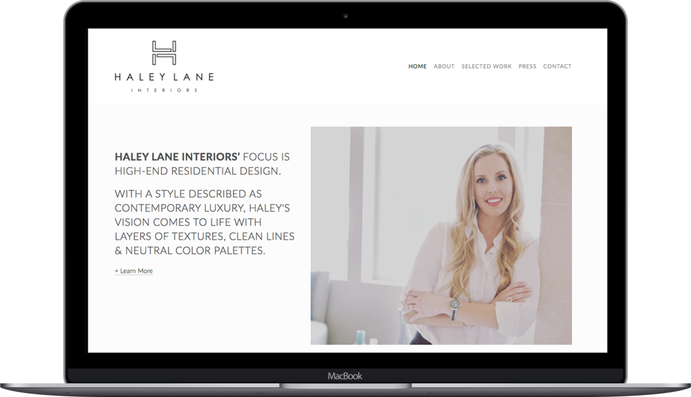 Laptop Mockup for Haley Lane