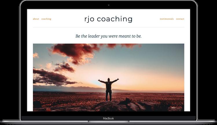 Laptop Mockup for rjo coaching