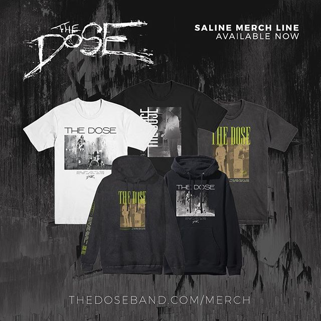 Exclusive Saline Album merch available now! 🖤🤘🏼