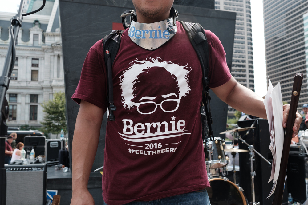 This young man lost his Nokia cell phone during the #bernieorbust rally. He was on the stage afterwards asking folks to return his phone if they happened to stumble upon it. I hope he found his phone.
