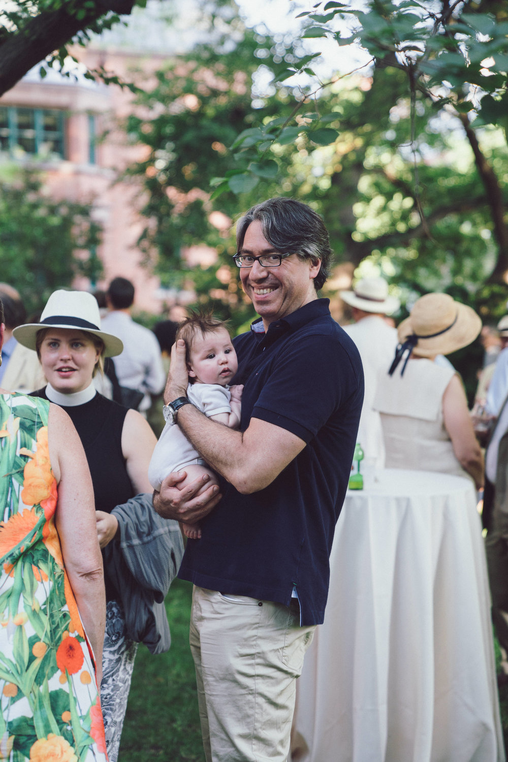 Attendees of The General Seminary's Annual Garden Party. Photo by Daniel Lee.