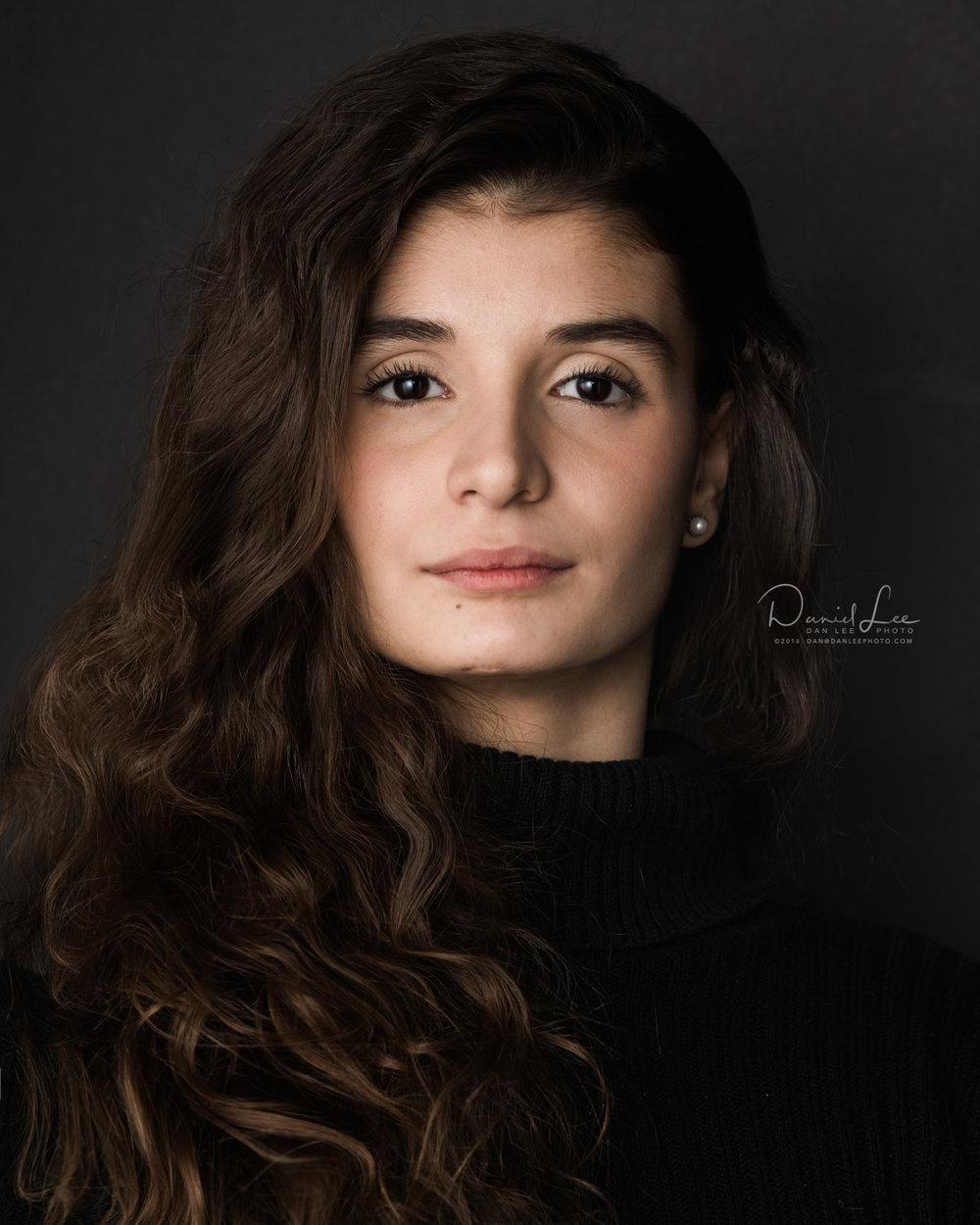 Manoela Leopoldino, Dancer, Joffrey Ballet School. Headshot by Daniel Lee.