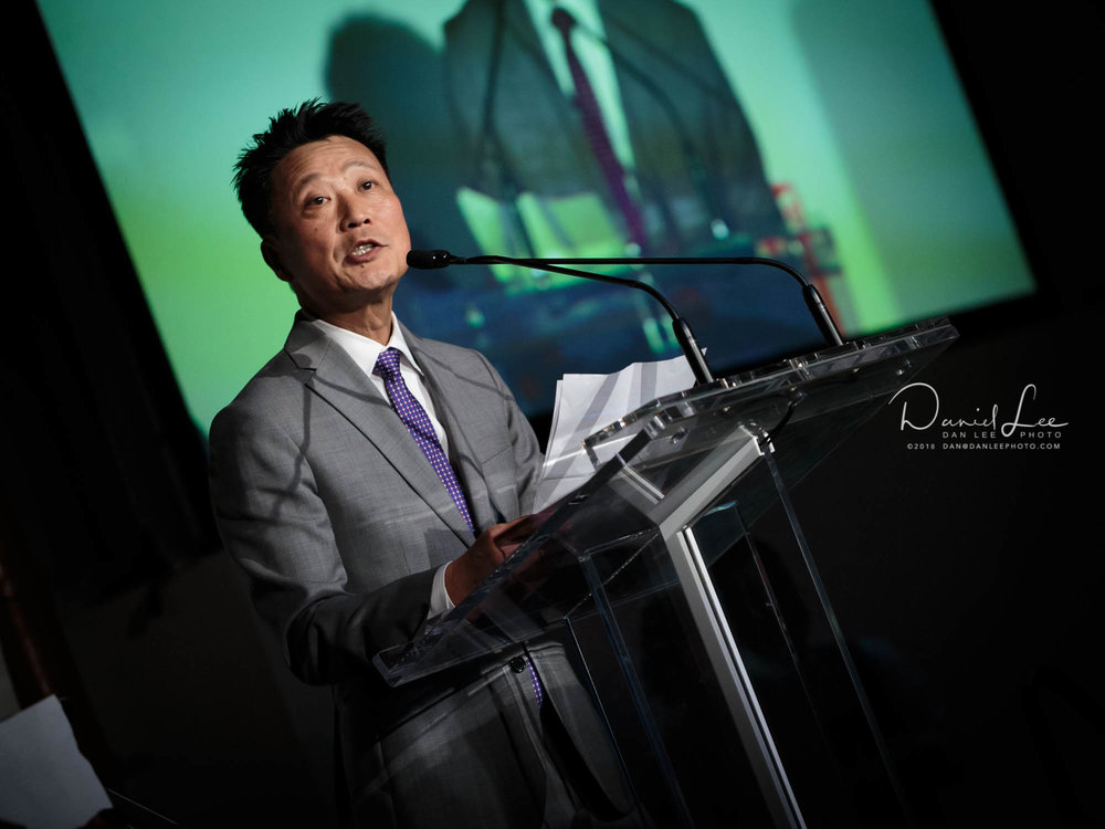 A speaker at KCSNY's annual fundraising gala. Photo by Daniel Lee.