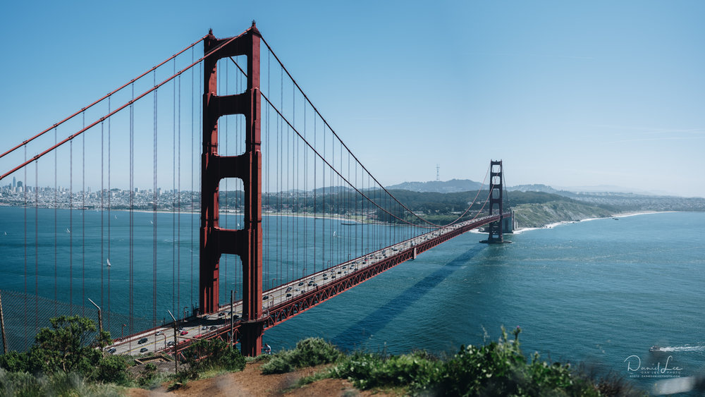 The Golden Gate Bridge & San Francisco on the other side. Photo by Daniel Lee.