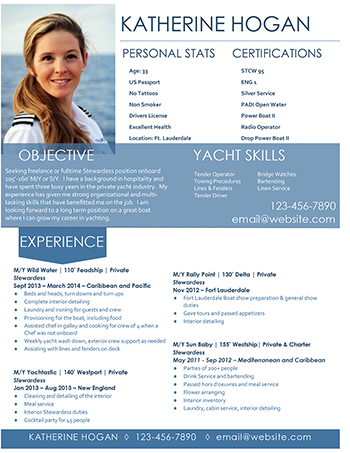 Superyacht cv template idealstalist superyacht cv template yelopaper Choice Image