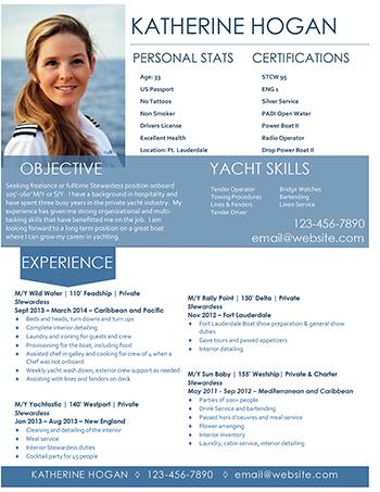 New Example Of Yacht Stewardess Resume Example