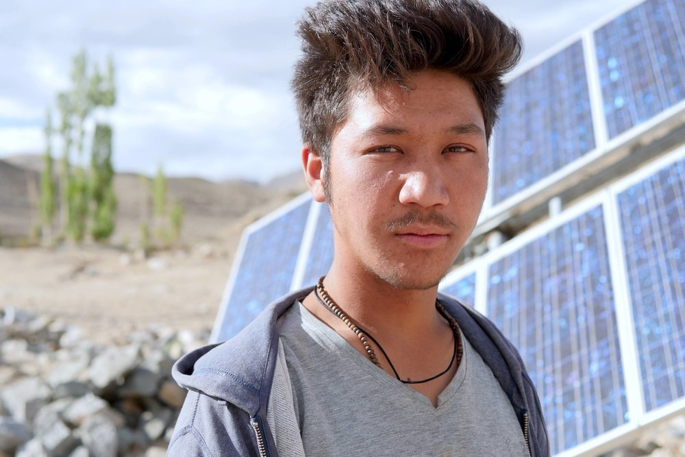 Chotak, student and solar power enthusiast, Ladakh, India