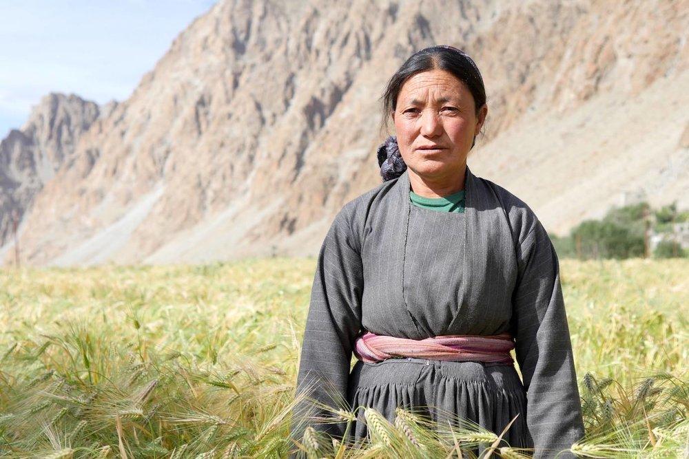 Tsering Dolkar, farmer, Domkhar-Gongma Village, Ladakh, India