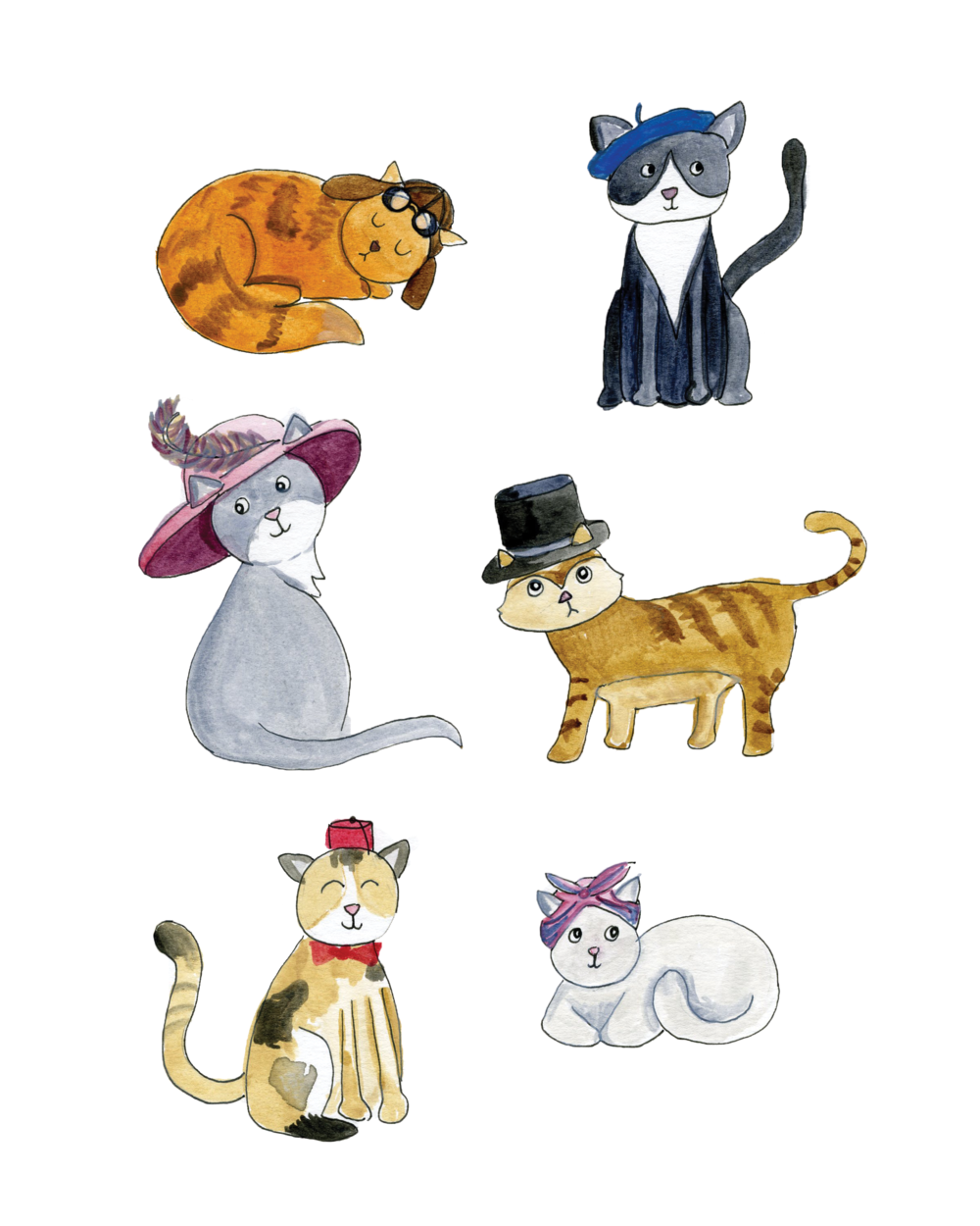 cats-in-hats-illustration