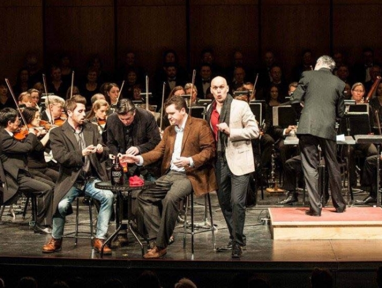 As Schaunard in  La Bohème  with Windsor Symphony Orchestra. With Jeremy Bowes, Brian Cheney, John Conlon, and Maestro Robert Franz