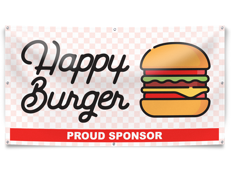 Happy Burger Banner Example