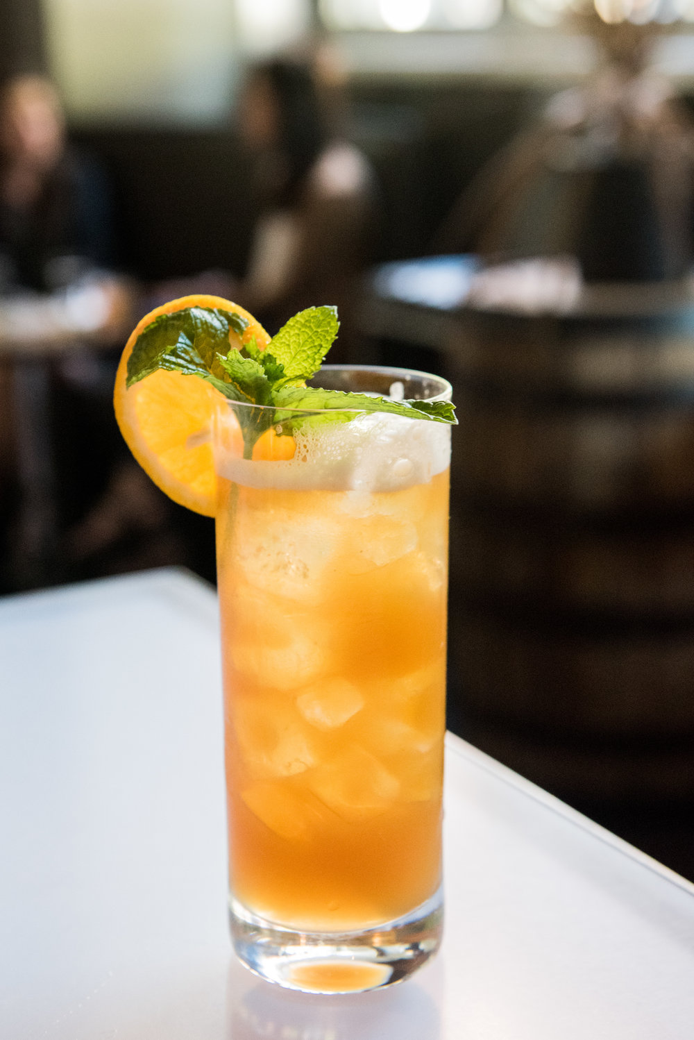 Carolina on My Mind - CH Bourbon, Mint, Peach, Lemon(Balanced tartness, hint of peach, bourbon shines through)