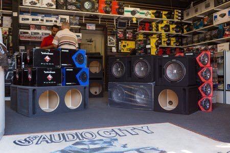 Custom car stereo installation at Car Audio City.