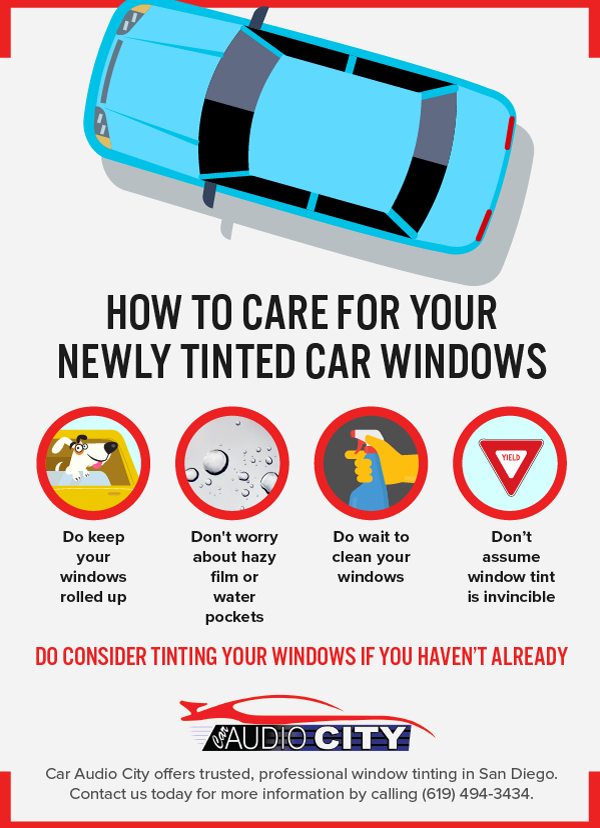 Car Window Tinting Infographic Car Audio City National City, California