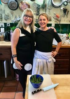 Karen with Chef Dominie!