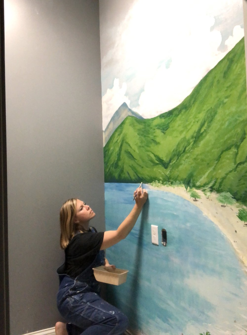 Lawson Family Dentistry Tropical Mural