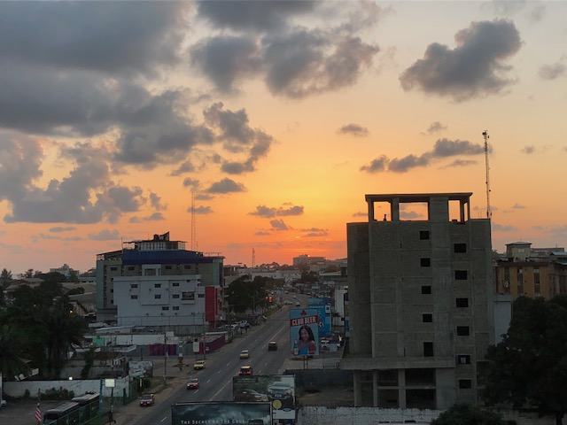 Sunset in Monrovia, Liberia