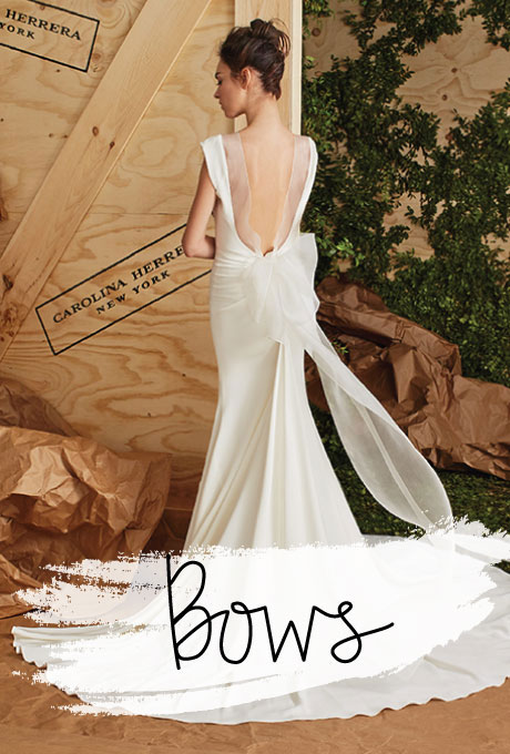 Wedding dress by  Carolina Herrera
