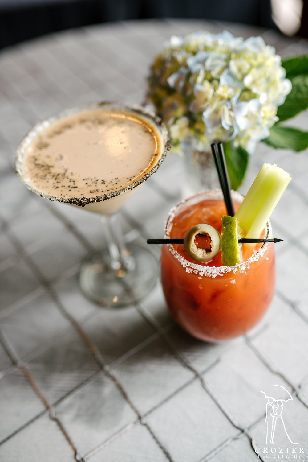 The perfect brunch wedding drinks. Photo by  Crozier Photography