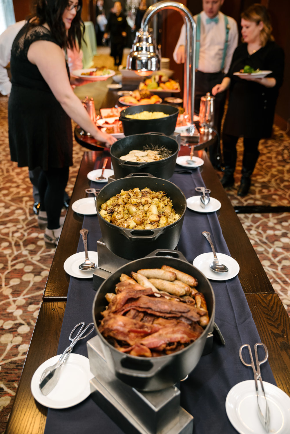 Salish Lodge  created a beautiful brunch for Mark + Jereme's wedding. Photo by  Crozier Photography.