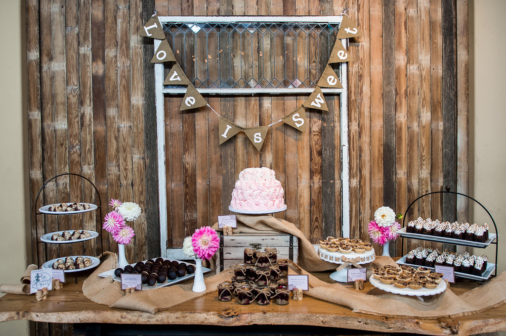 Dessert Bar by  Better Than a Boyfriend Bakery . Photo by  Van Wyhe Photography