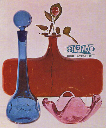 1963 Blenko catalog featuring a rose petal bowl.