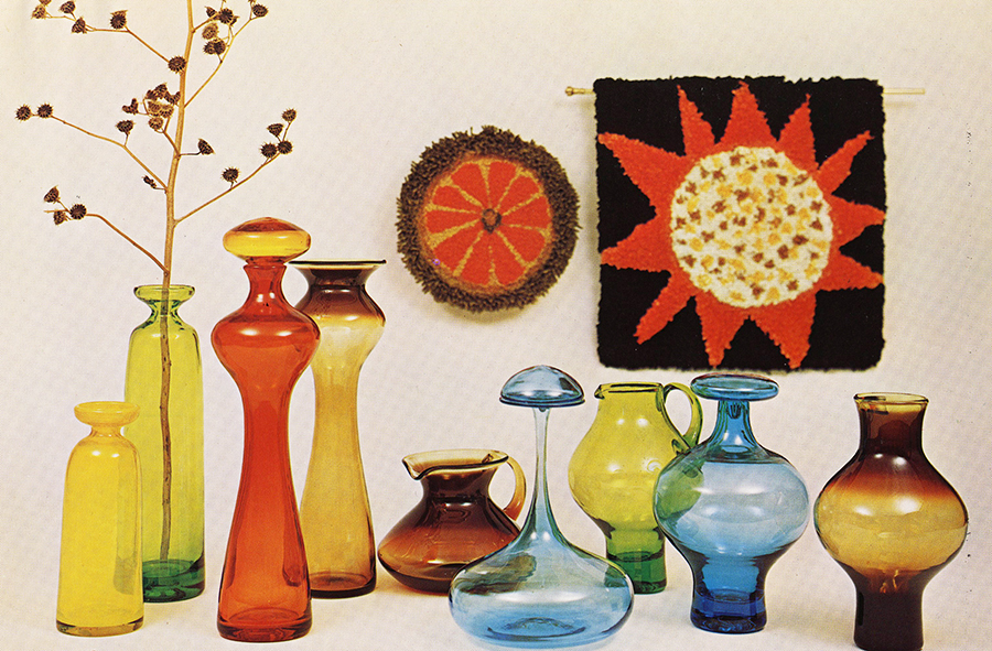 Tom Connally's designs for the first all-Greenwich Flint Glass catalog in 1965.