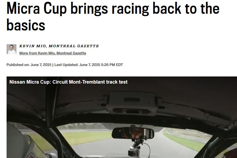 Micra Cup Brings Racing Back To Basics - June 7, 2015