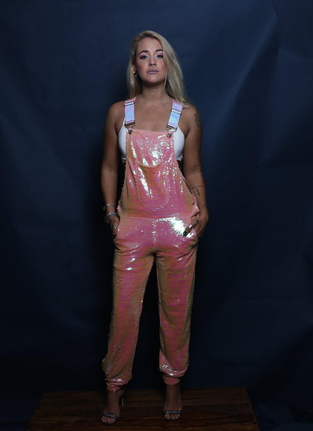 Pink Princess Sequin Long Overalls