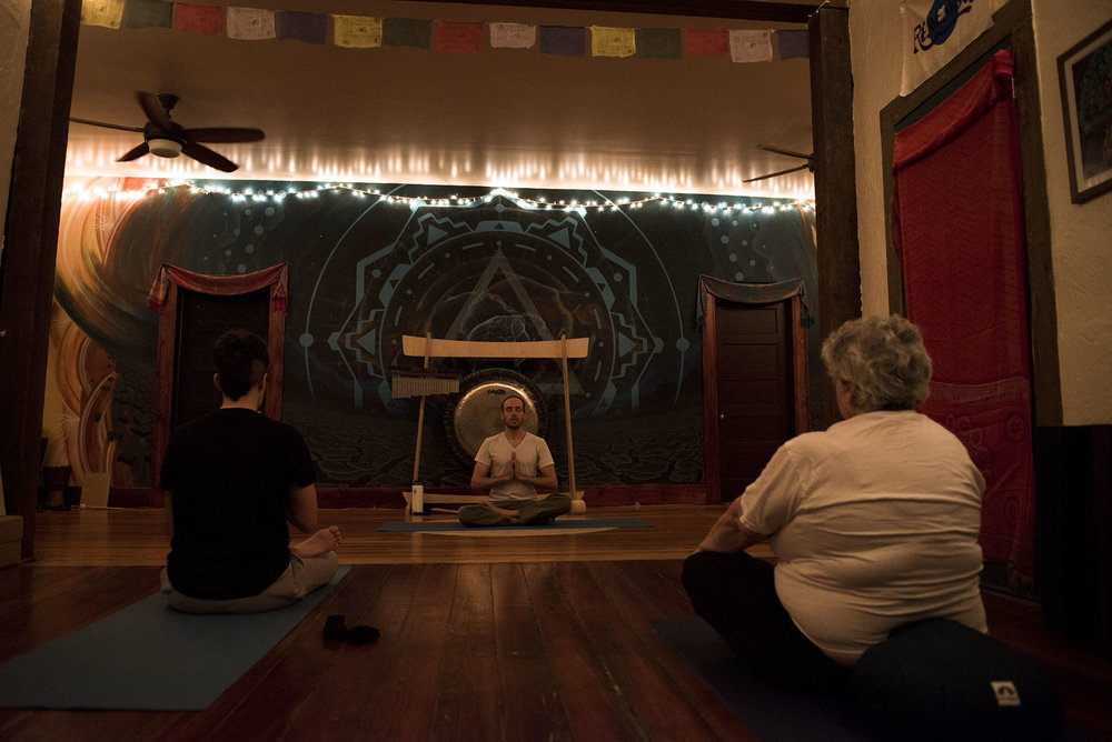 "Each week, Chandler teaches a free Kundalini yoga class to people in the Gainesville community. ""Healing others is the best way to heal yourself,"" Chandler said."