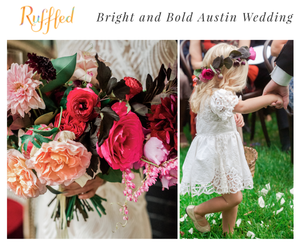 Ruffled Blog | Bright and Bold Austin Wedding | Gypsy Floral & Events
