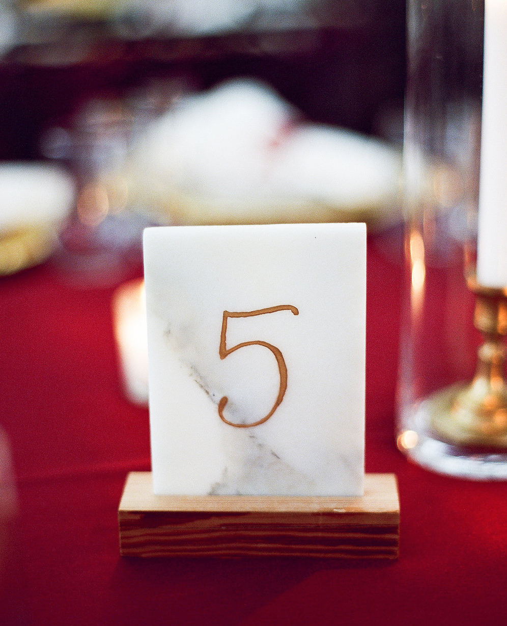 Marble Wedding Table Numbers