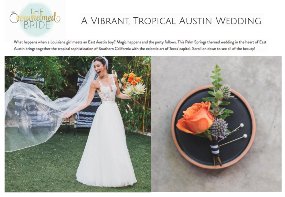 A Vibrant, Tropical Austin Wedding | The Overwhelmed Bride | Gypsy Floral and Events