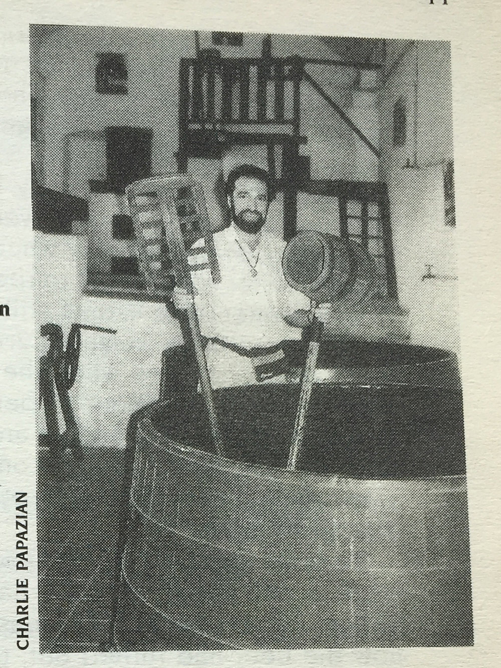 Charlie Papazian en el convento de San Francisco.