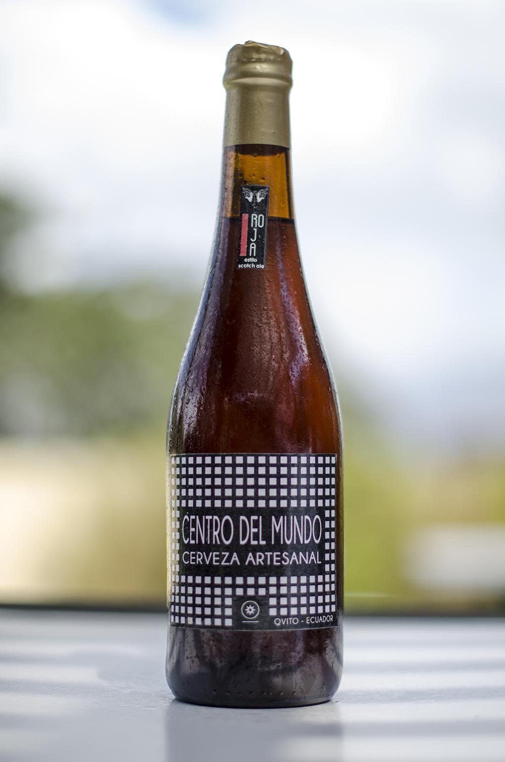Cerveza Centro del Mundo   Scotch Ale Roja  5,5 %